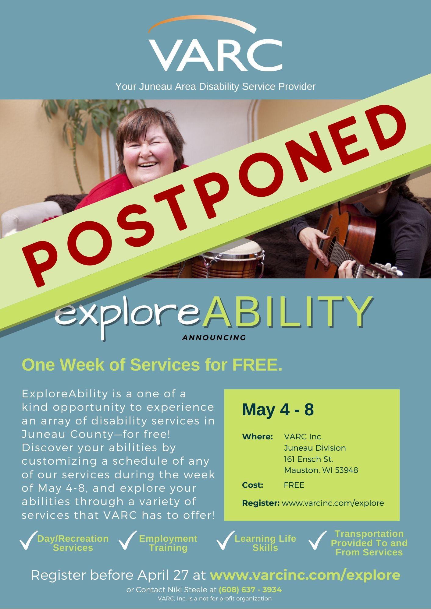 ExploreABILITY Postponed Juneau